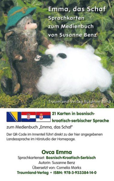 Vorderseite des Sprachkartensets bosnisch-kroatisch-serbisch