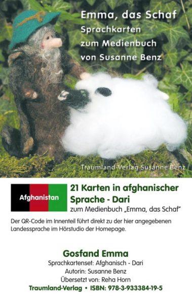 Vorderseite des Sprachkartensets dari