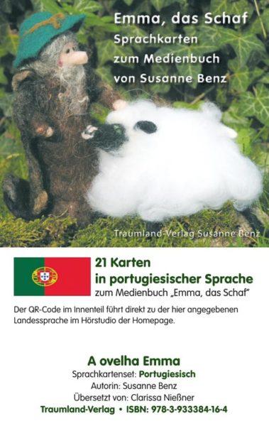 Vorderseite des Sprachkartensets portugiesisch