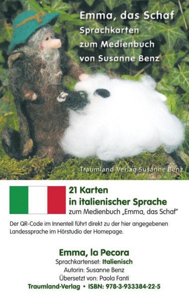 Vorderseite des Sprachkartensets italienisch